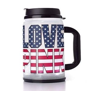 VS PINK Logo Chug Mug Star Stripe Cup USA Flag